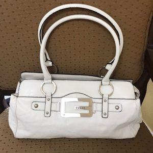 Guess white purse